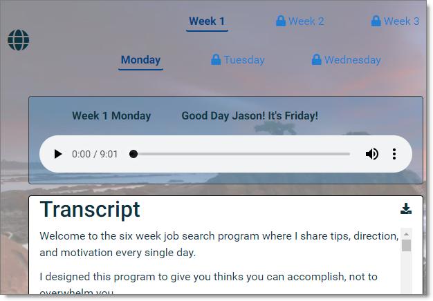 Job-search-program-day-1