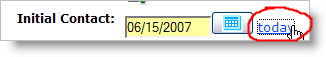 Put today's date in with one click