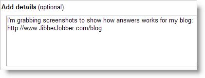 LinkedIn Answers - Add Details
