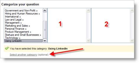 LinkedIn Answers - Categorize Your Answer