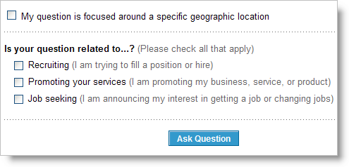 LinkedIn Answers - other options
