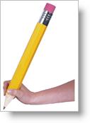 Giant Pencil (photo courtesy www.otherlandtoys.co.uk)