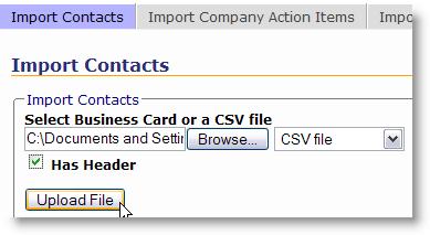 browse CSV