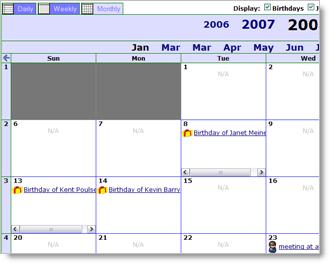 JibberJobber has a calendar!