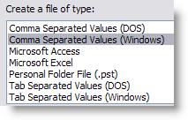 Choose CSV Windows