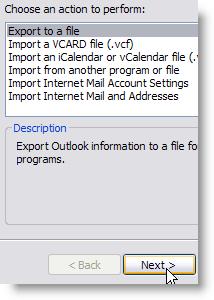Choose Export