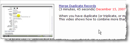 Merge duplicate records in JibberJobber