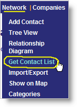 Get Contact List - from Network dropdown