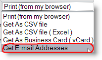 Get e-mail addresses