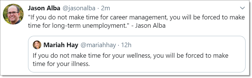 JibberJobber If You Do Not Make Time