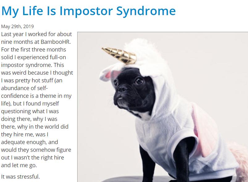 JibberJobber Impostor Syndrome Dog Unicorn