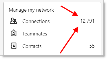 JibberJobber LinkedIn Export Click Contacts
