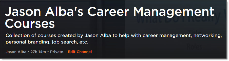 JibberJobber Pluralsight Channel: Jason Alba's Career Management Courses