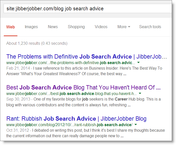 jibberjobber_google_site_search_job_search_advice