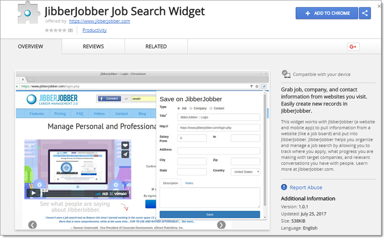 jibberjobber_job_search_widget