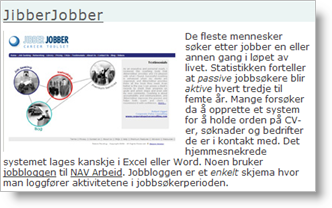 Review of JibberJobber on PerMorten.net
