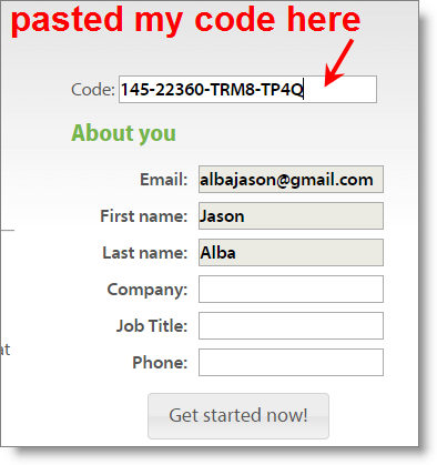 jibberjobber_pluralsight_30_day_code_form