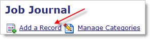 Job Journal - Job Diary, enter a new entry