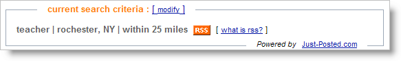 Just-Posted.com has RSS - just click on this RSS button and you'll see the feed...