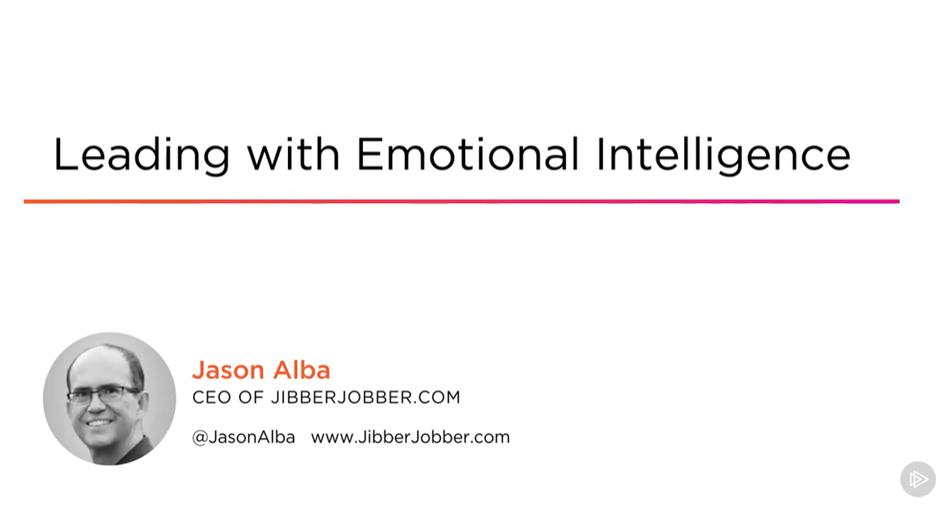 Leading With Emotional Intelligence Title Slide