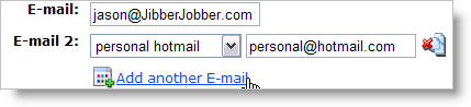 add multiple e-mail addresses