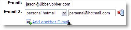 add multiple e-mail addresses
