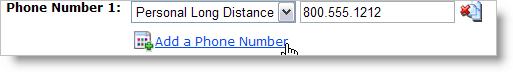 add multiple phone numbers