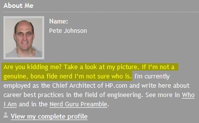 Nerd Guru - what a nerd!
