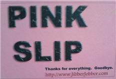 JibberJobber Pink Slip