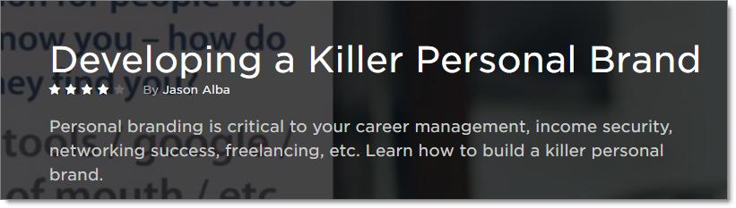 Pluralsight a Developing Killer Personal Brand