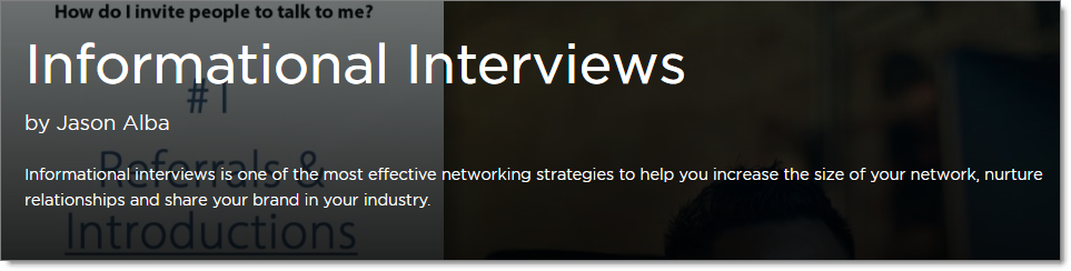 Pluralsight Informational Interviews Jason Alba