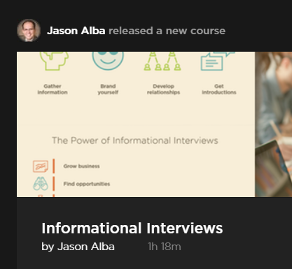 Pluralsight Informational Interviews
