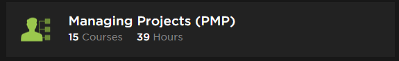 Pluralsight Learning Path Managing Projects PMP