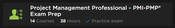 Pluralsight Learning Path Project Management Professional