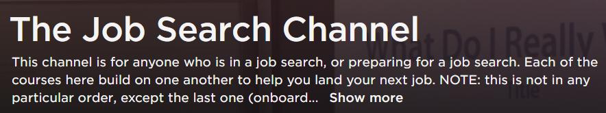Pluralsight: The Job Search Channel