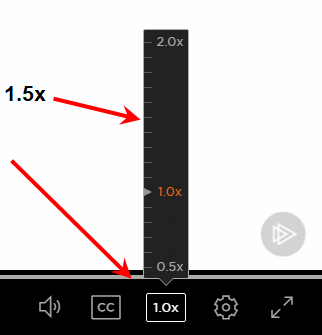 Pluralsight Playback Speed to listen to more courses