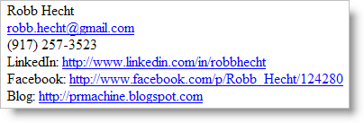 Robb Hecht e-mail signature