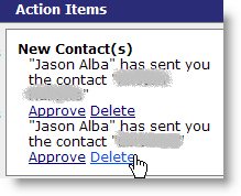 recipient can decide to accept or reject!