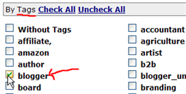 select tags to keep