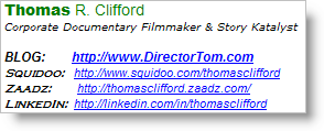 Thomas Clifford - e-mail signature as a personal branding tool